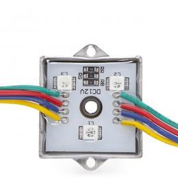 Módulo de 3 LEDs Aluminio SMD5050 0,72W RGB - Imagen 2
