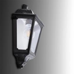 Aplique para Exterior Fumagalli IESSE Negro E27 LED Filamento 6W Blanco Cálido - Imagen 1