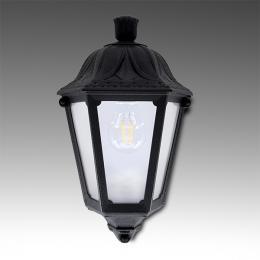 Aplique para Exterior Fumagalli IESSE Negro E27 LED Filamento 6W Blanco Cálido - Imagen 2