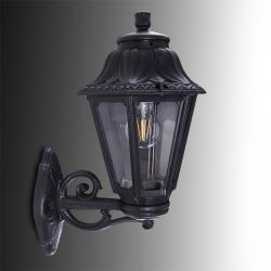 Aplique para Exterior Fumagalli BISSO/ANNA Negro E27 LED Filamento 6W Blanco Cálido - Imagen 1