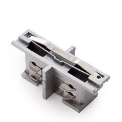 Conector Recto para Carril Trifásico Color Plata - Imagen 1
