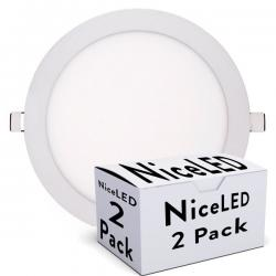 PACK PLACAS Led CIRCULAR ECOLINE 240mm 20W 1600Lm