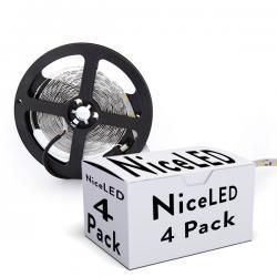 PACK DE 4 TIRAS DE 300 LEDS SMD5050 12VDC - Imagen 1