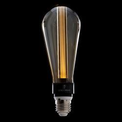 Bombilla Vintage LED Art Deco Led 3D ST64 5W E27 Vidrio Ámbar