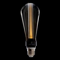 Bombilla Vintage LED Art Deco 3D ST64 5W E27 Vidrio Transparente