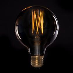 Bombilla Vintage LED Dimmable G125 Onda 4W E27 Vidrio Ámbar