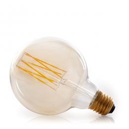 Bombilla Vintage LED Dimmable G125 Onda 4W E27 Vidrio Ámbar - Imagen 2