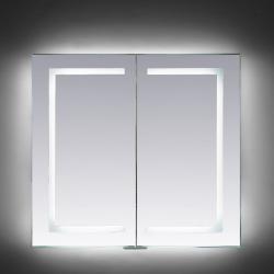 Armario de Baño Iluminado por LEDs con Detector Proximidad, Antivaho, Enchufe Afeitadora. Aluminio. - Imagen 1