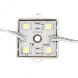Módulo de 4 LEDs Aluminio SMD5050 1,44W RGB - Imagen 1