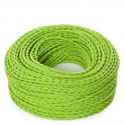 Cable Trenzado 2x0,75 Verde Menta - Imagen 1