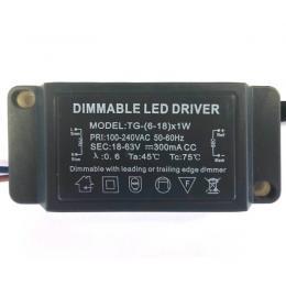 Driver Dimable para luminarias LED de 6W a 18W 300mA - Imagen 2