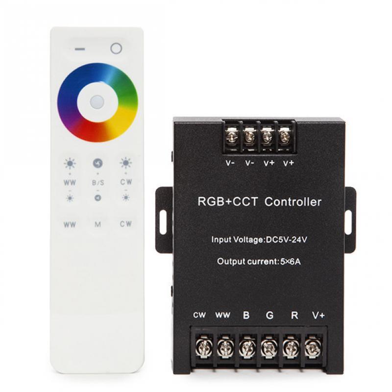 Controlador 2.4G Táctil RGB+CCT 5 Canales con Mando a Distancia - Imagen 1