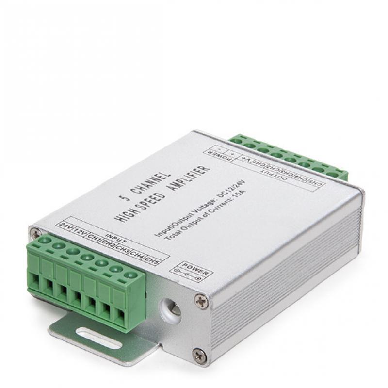 Amplificador RGB 5 Canales 12-24VDC Max.180/360W - Imagen 1