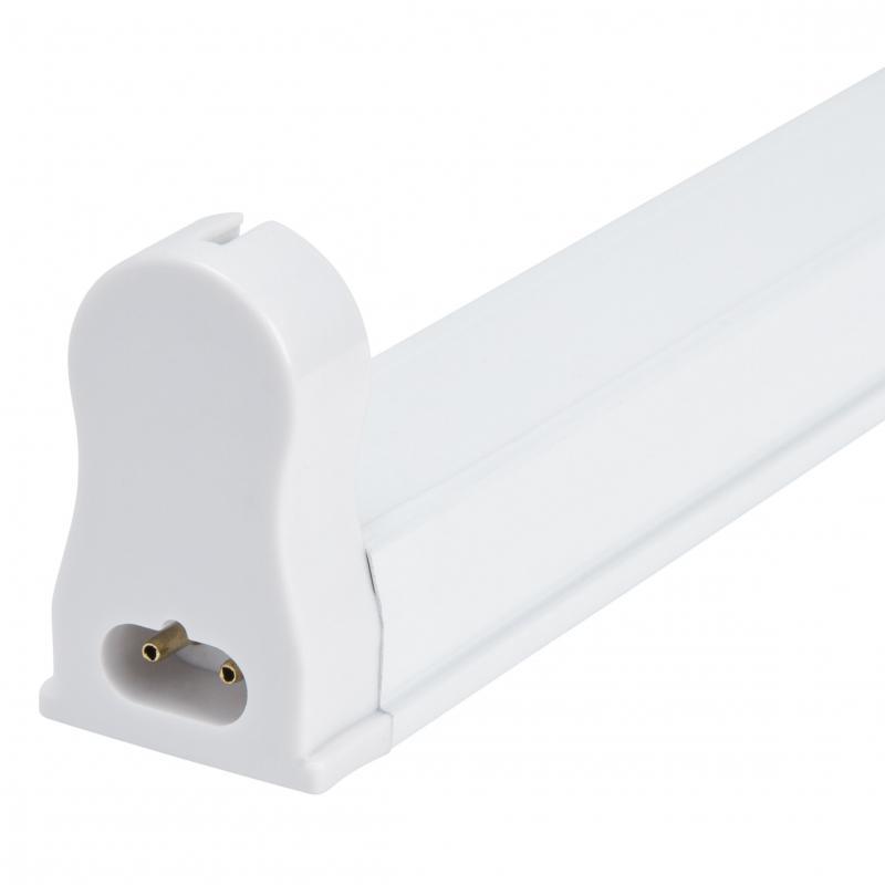 Regleta de Aluminio ECO para un Tubo Led T8 600mm Conexión Un Extremo - Imagen 1