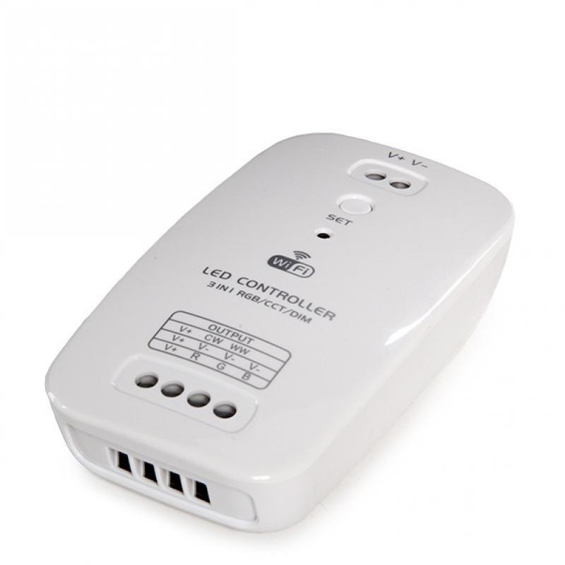 Controlador WIFI para Tiras Led - Tres en Uno - Temperatura Color/RGB/Dim - Compatible Alexa - Imagen 1