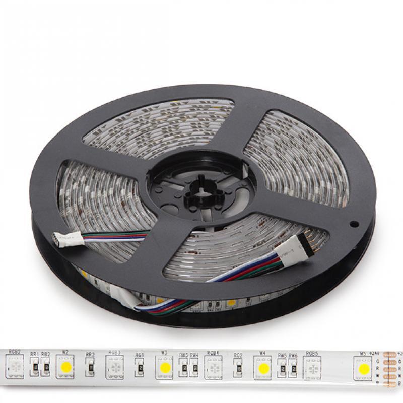 Tira de 5 Metros 300 LEDs 60W SMD5050 24VDC IP65 RGB+Blanco - Imagen 1