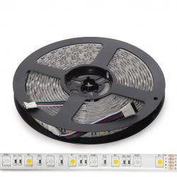 Tira LED 5M 300 LEDs 60W SMD5050 24VDC IP65 RGB+Blanco Cálido