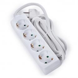 Regleta Multiple - 4 Tomas SCHUKO - Protección Infantil - Cable 3G 1,5mm2  1,5M - Imagen 1