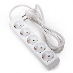 Regleta Multiple - 5 Tomas SCHUKO - Protección Infantil - Cable 3G 1,5mm2 1,5M - Imagen 1