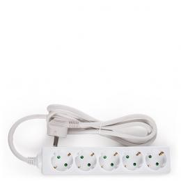 Regleta Multiple - 5 Tomas SCHUKO - Protección Infantil - Cable 3G 1,5mm2  1,5M - Imagen 2