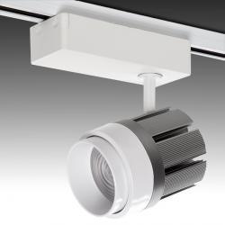 Foco Carril Led Monofásico-Color e Intensidad por Mando a Distancia-30W 2700Lm 30.000H