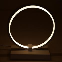 "Lámpara de Mesa Led 15W 1100Lm Dimable ""Circle"""
