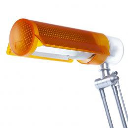 Lámpara De Mesa Bajo Consumo 20W E27 (Bombilla Incluida) Teja Naranja - Imagen 2