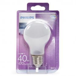 Bombilla LED Philips E27 A60 4,5W 470Lm Blanco Natural - Imagen 1