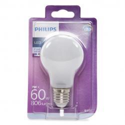 Bombilla LED Philips E27 A60 7W 806Lm Blanco Natural - Imagen 1