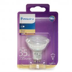 Bombilla LED Philips Gu10 36D 3,5W 255Lm Blanco Cálido - Imagen 1