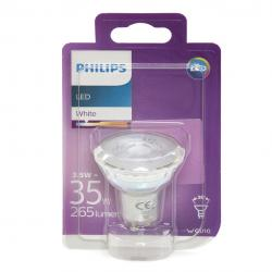 Bombilla LED Philips GU10 36D 3,5W 255Lm Blanco Natural
