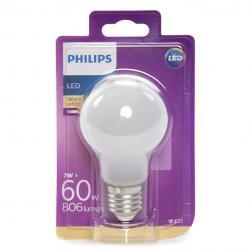 Bombilla LED Philips E27 A60 7W 806Lm Blanco Cálido - Imagen 1