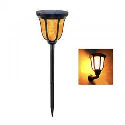 Antorcha Aplique LED Solar con Luz efecto Llama con Pica