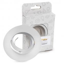 Aro Foco Downlight  Basculante Circular Aluminio Blanco 93Mm Estuche Personalizado - Imagen 1