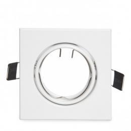 Aro Foco Downlight  Basculante Cuadrado Aluminio Blanco 83/83Mm Estuche Personalizado - Imagen 2