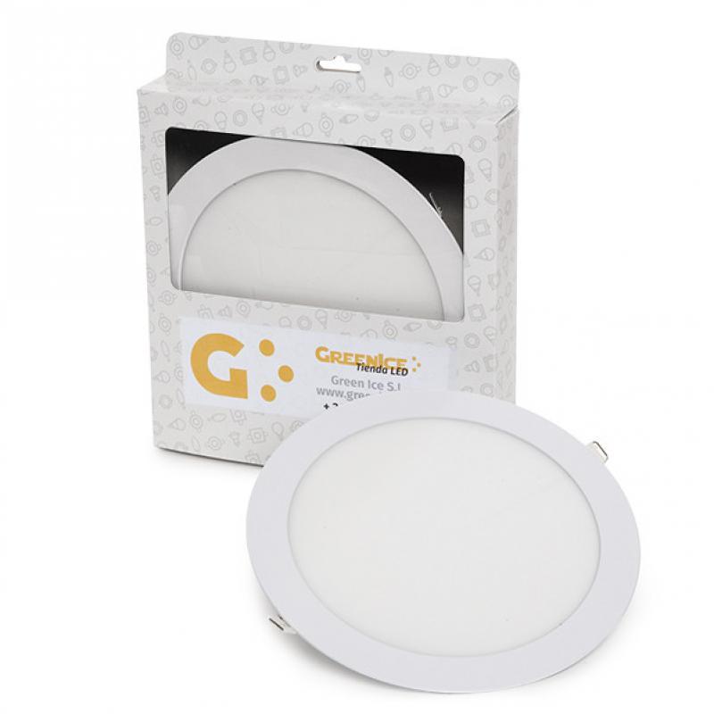 Placa LED Circular Ecoline 225Mm 18W 1409Lm 30.000H Estuche Personalizado - Imagen 1