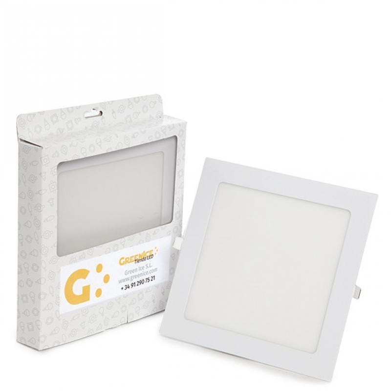 Placa LED Cuadrada Ecoline 225Mm 18W 1350Lm 30.000H Estuche Personalizado - Imagen 1
