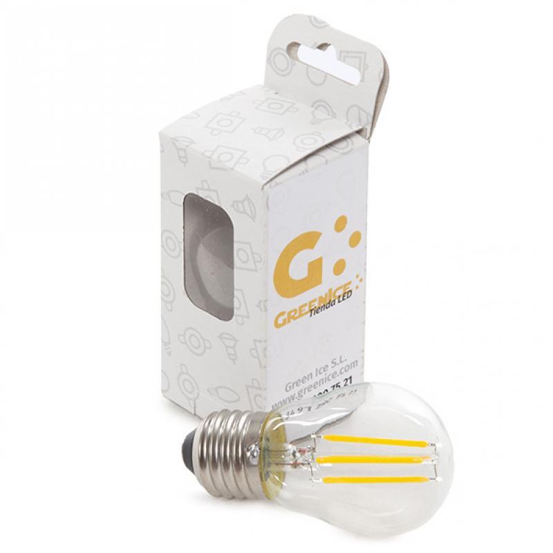 Bombilla Led Filamento Vintage G45 E27 4W 400Lm - Blanco Cálido Estuche Personalizado - Imagen 1