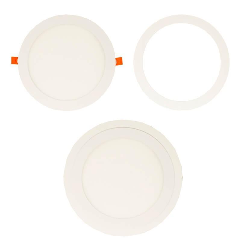 Aro Blanco Supletorio cubre hueco para Downlight 25,5 cm - Imagen 1