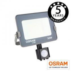 Foco Proyector LED 30W con Sensor Movimiento PIR AVANCE OSRAM - Imagen 1