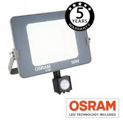 Foco Proyector LED 50W con Sensor Movimiento PIR  AVANCE OSRAM - Imagen 1
