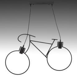 Lámpara Suspendida Bicycle 2xE27 (Sin Bombillas) Negro