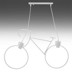 Lámpara Suspendida Bicycle 2xE27 (Sin Bombillas) Blanco