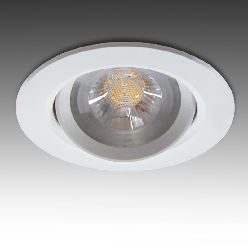 Foco Downlight  Circular LED COB 7W 630Lm 30.000H - Imagen 1