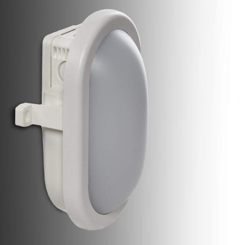Aplique LED IP54 10W 700Lm 40000H Oval Blanco - Imagen 1