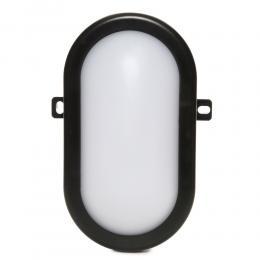 Aplique LED IP54 10W 700Lm 40000H Oval Negro - Imagen 2