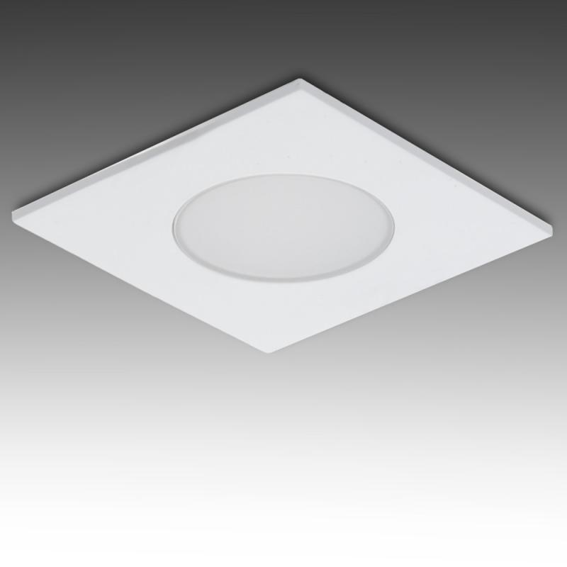 Foco Downlight LED IP54 Baños Y Cocinas Cuadrado 5W 350Lm 25.000H - Imagen 1