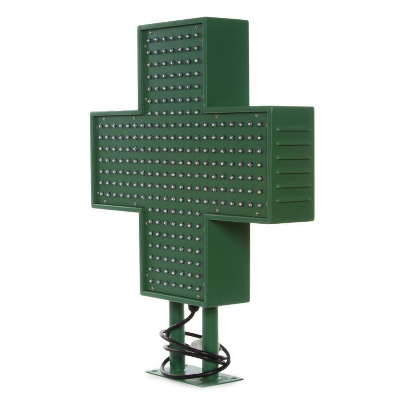 Cruz de Farmacia LED 500x500mm Verde IP65 Control Remoto - Imagen 1
