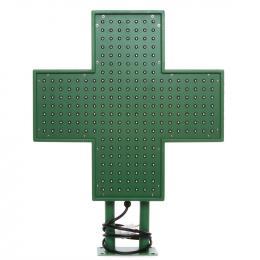 Cruz de Farmacia LED 500x500mm Verde IP65 Control Remoto - Imagen 2
