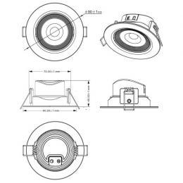 Empotrable LED 7W Circular 45° - Imagen 2